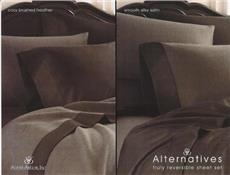 ALTERNATIVES Reversible Satin Sheet Sets