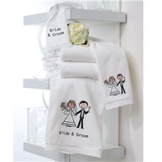 Bride & Groom Towel Gift Set | By DomesticBin