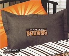 CLEVELAND BROWNS Denim Pillow Sham | By DomesticBin