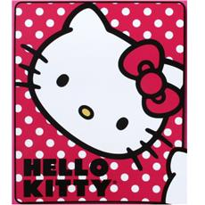 Hello Kitty Polka Dot Kitty Fleece Throw | By DomesticBin