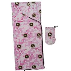 John Deere Pink Camo Sleeping Bag | By DomesticBin
