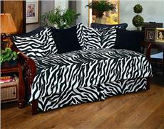 Solid Color Futon Covers Zebra Print Daybed Ensemble
