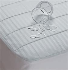 Waterproof Sateen Cotton Fitted Mattress Pad | By DomesticBin