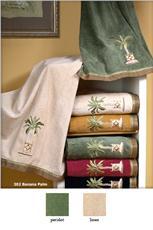 Banana Palm Embellished Bath Towel Sets