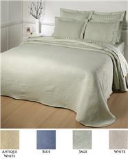 Kensington Rose Matelasse Bedspread | By DomesticBin