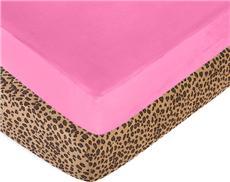 Cheetah Pink Crib Sheet | By DomesticBin