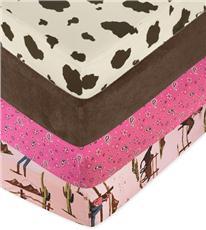 Cowgirl Crib Sheets | By DomesticBin