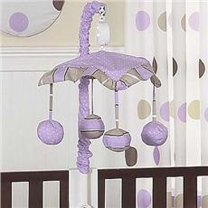 Mod Dots Purple Musical Crib Mobile | By DomesticBin