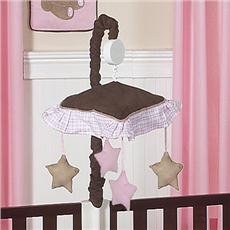 Teddy Bear Pink Musical Crib Mobile | By DomesticBin