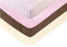 Teddy Bear Pink Crib Sheets | By DomesticBin