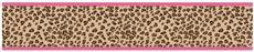 Cheetah Pink Prepasted Wall Border | By DomesticBin