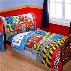 Sesame Street Fire Department 4pc Toddler Set