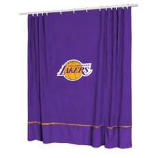 Los Angeles Lakers Sidelines Shower Curtain | By DomesticBin