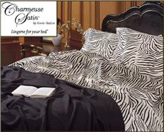 ZEBRA PRINT Satin Sheets & Comforter Sets
