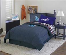 LOS ANGELES DODGERS Denim Comforter & Sheet Set Combo