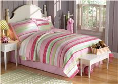 Annas Ruffle Pink Quilted Bedding & Accessories