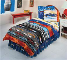 Nascar AT THE TRACK Kids Bedding for Boys