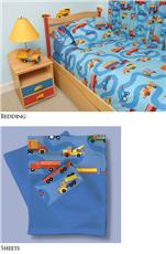 Boys Like Trucks Bedding for Boys