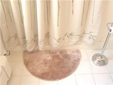 DECORATIVE PLUSH BATHROOM RUGS--WEDGE RUG