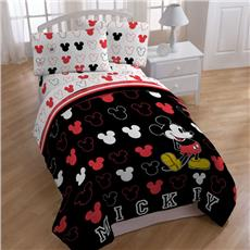 Mickey Mouse Kids Bedding-Mickey Stripes | By DomesticBin