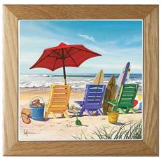 BEACHY KEEN Framed Trivet | By DomesticBin