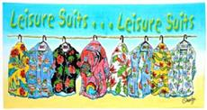 Leisure Suits Beach Towel | By DomesticBin