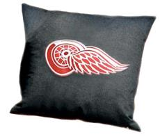 "DETROIT REDWINGS Denim 18"" Square Pillow 