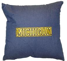 "University of Michigan 18"" Square Pillow 