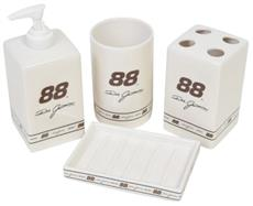 NASCAR #88 Dale Jarrett 4 pc Ceramic Bathroom Set | By DomesticBin