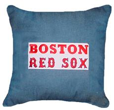"BOSTON RED SOX Denim 18"" Square Pillow 