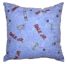 DALE EARNHARDT, JR. Blue Square Pillow | By DomesticBin