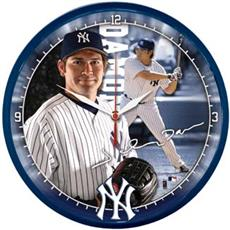 "Johnny Damon 12.75"" Round Clock 
