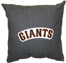 "SAN FRANCISCO GIANTS 18"" Denim Square Pillow 