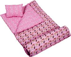 "HORSES ""PINK"" Sleeping Bag for Girls 