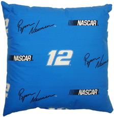 "Ryan Newman #12 Blue 17"" Pillow 