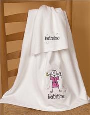Bathtime Girl Bath Set | By DomesticBin