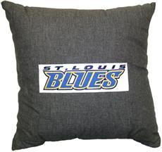 "St. Louis Blues 18"" Denim Square Pillow | By DomesticBin"