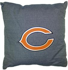 "NFL Chicago Bears Denim 18"" Square Pillow 