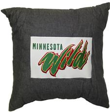 "MINNESOTA WILD 18"" Denim Square Pillow 