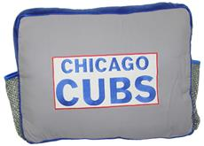 MLB Authentic CHICAGO CUBS Rectangular Logo Pillow | By DomesticBin