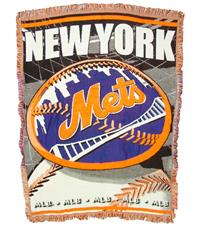 New York Mets Woven Jacquard Tapestry Throw | By DomesticBin