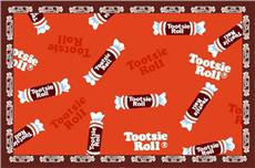 Tootsie Roll Candy Fun Rug | By DomesticBin