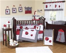 Little Ladybug 9pc Crib Bedding Set | By DomesticBin