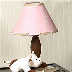 Pink & Brown Modern Polka Dots Lamp Shade   By DomesticBin