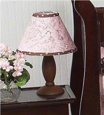 Pink & Brown Toile Lamp Shade | By DomesticBin