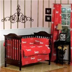University of Nebraska Collegiate Baby Crib Set | By DomesticBin