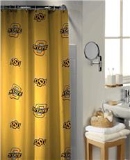 Oklahoma State University Collegiate Shower Curtain | By DomesticBin
