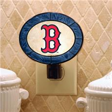 Boston Red Sox Art Glass Night Light | By DomesticBin