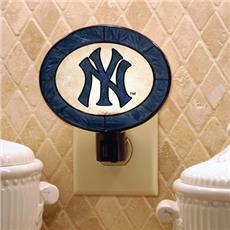 New York Yankees Art Glass Night Light | By DomesticBin