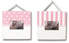 PINK & WHITE Frame Set | By DomesticBin